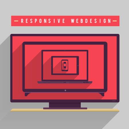 muti: Responsive webdesign for muti device in vector file on multi screen