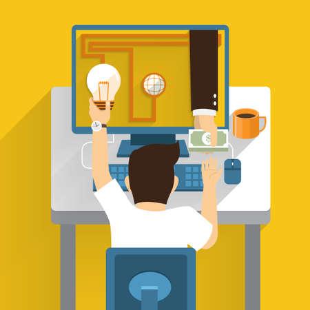 make money: Exchange idea money from online marketing