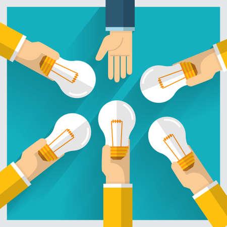 Hand vector exchange money idea and one way provide benefit Vector