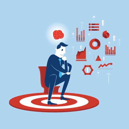 Businessman Thinking Analystic Information