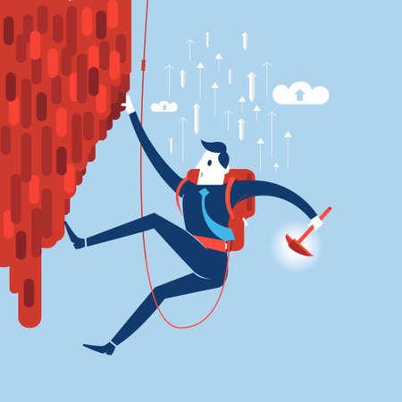 better chances: Businessman attemp to success