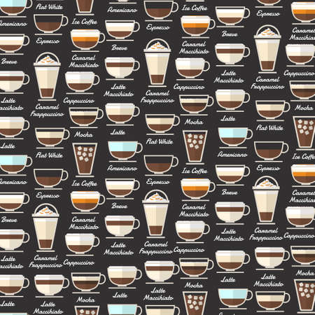 Coffee Type Background Pattern Vector