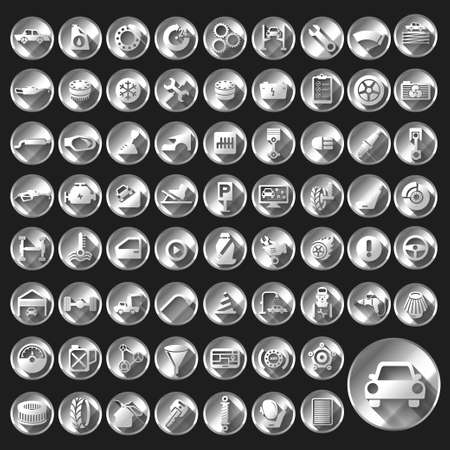 Car auto service icons set. Illustration
