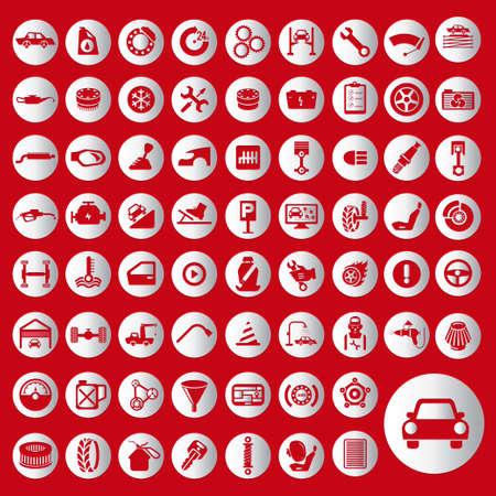 Car auto service icons set. 일러스트