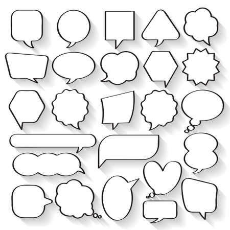 dialog balloon: Balloon message collection set vector for anything design