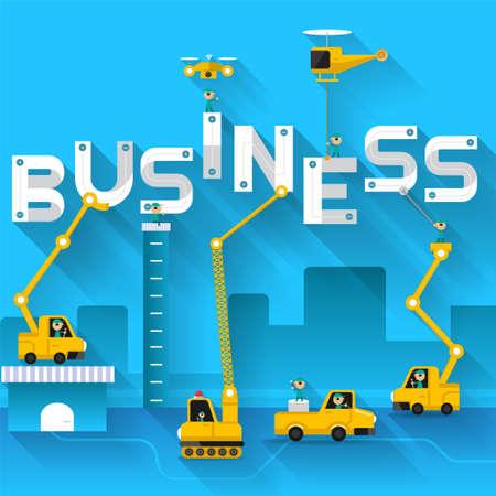 Engineering text BUSINESS vector illustrate. Illustration