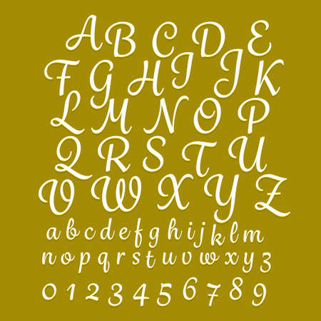 Alphabet hand drawing classic style