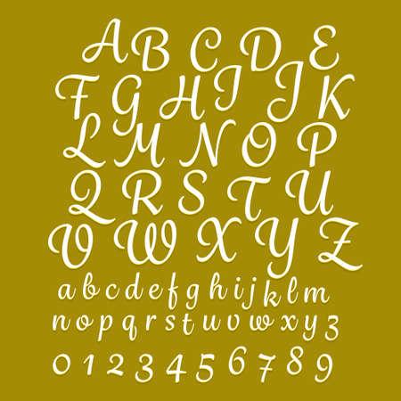 Alphabet hand drawing classic style Illustration