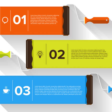 text boxes: Brush device vector text boxes, modern infographics, icon and marker Illustration