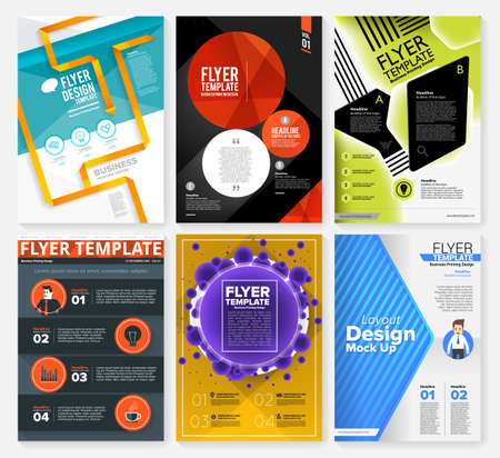 poster designs: Set of Flyer, Brochure Design Templates. Geometric Triangular Abstract Modern Backgrounds. Mobile Technologies, Applications and Online Services Infographic Concept. Illustration