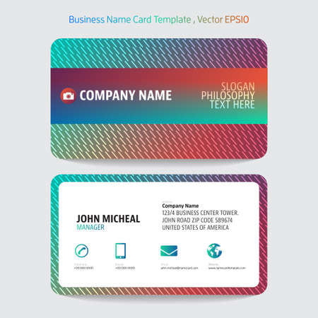 company name: Name card abstract background. Vector illustration.