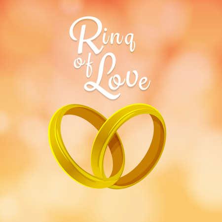 marital: Rigns of love design on bueatyful background Illustration