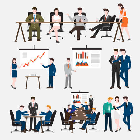 office party: Business Peoples acting in workplace - Vector Illustration, Graphic Design Editable For Your Design. Illustration