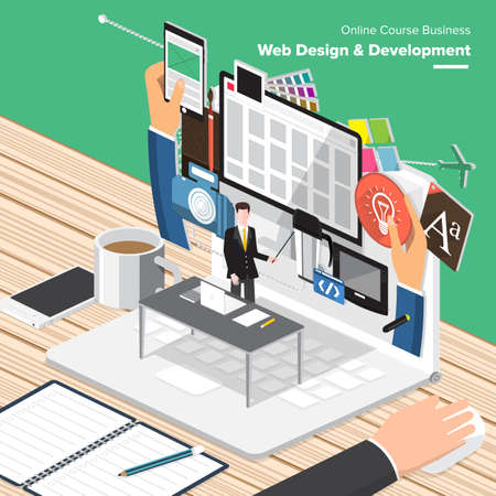 analyze: Isometric Flat design concepts for Email Marketing, Web Design Development, Big Data Analyze. Concepts for web banners and promotional materials. Stock Photo