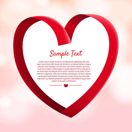 Layout design mockup for concept valentine festive love moment. Illustrator vector. Çizim