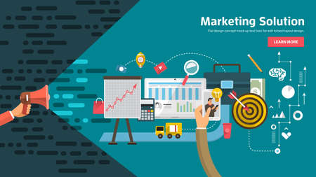 Flate design concept promote business digital marketing topic about communication. Vector illustration.