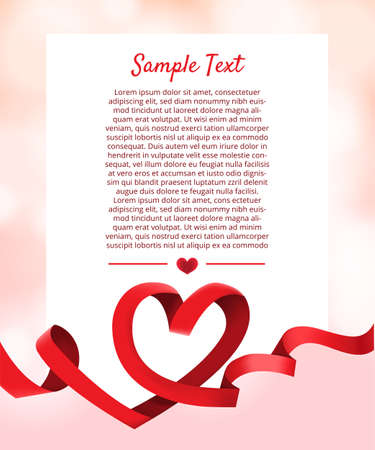 Layout design mockup for concept valentine festive love moment. Illustrator vector. Çizim