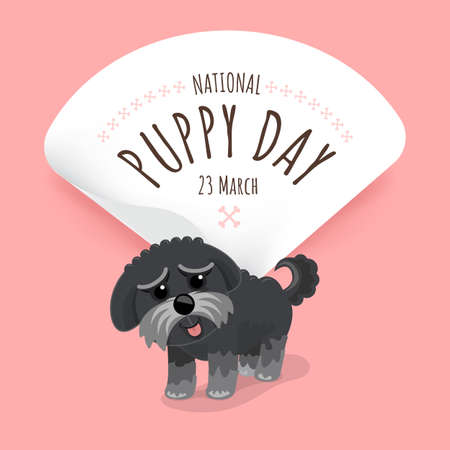 Illustrations concept National puppy day. Vector illustrate.