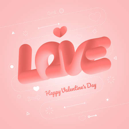 A valentine concept card background of heart and text