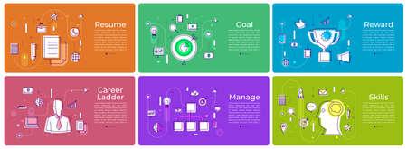 A various banner background set of digital marketing vector illustration Stock Vector - 98764295