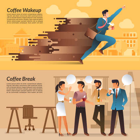 Illustrations concept of coffee break.