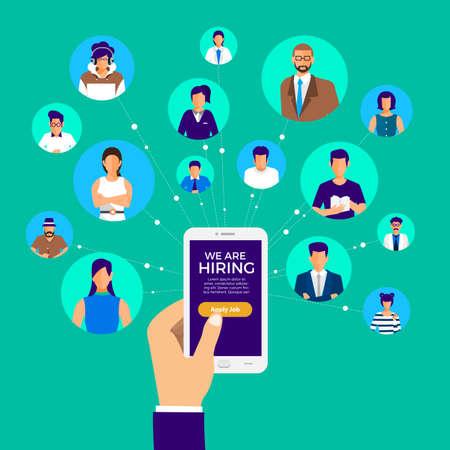 Design concept of finding employee. HR job seeking.