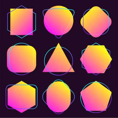 Abstract blur free form shapes color gradient iridescent colors effect soft transition, vector illustration eps10