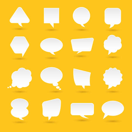 Flat design icons set bubble message for text. Vector illustrations.  Ilustrace