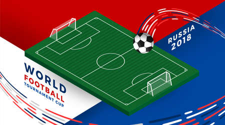 football tournament 2018 design with soccer element. Vector illustrate.