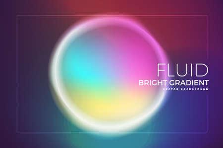 Background element design concept holographic fluid bright gradient.Creative layout composition template. Vector illustrations.