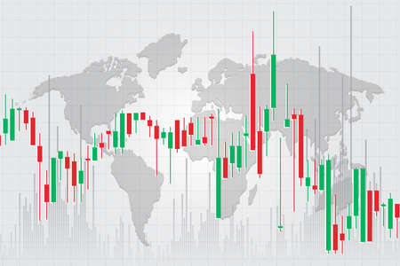 Candle stick graph chart of stock market investment trading, Stock exchange concept design and background. Vector illustrations.