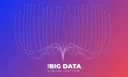 Big data visualization. Visual data complexity analytics. Concept design infographic. Information line graphic representation. Abstract data graph. Vector Illustration Illustration