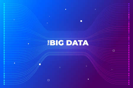 Big data visualization. Visual data complexity analytics. Concept design infographic. Information line graphic representation. Abstract data graph. Vector Illustration Çizim