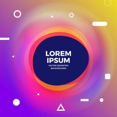 Geometric background bright colors and dynamic shape compositions. Vector illustrations.