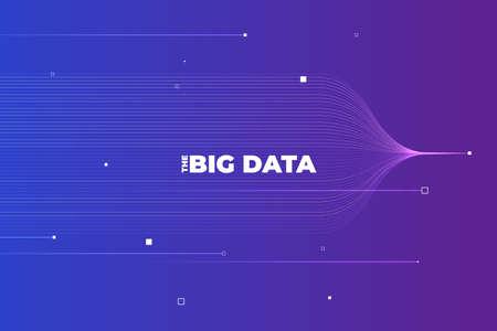 Big data visualization. Visual data complexity analytics. Concept design infographic. Information line graphic representation. Abstract data graph. Vector Illustration Ilustração