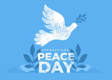 Sep 21 , international peace day. Illustration concept present peace world. Vector illustrate. Иллюстрация