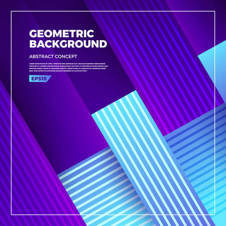 Abstract background concept design geometric shape with light and shadow glow. Template design banner website and brochure. Vector illustrate. Иллюстрация