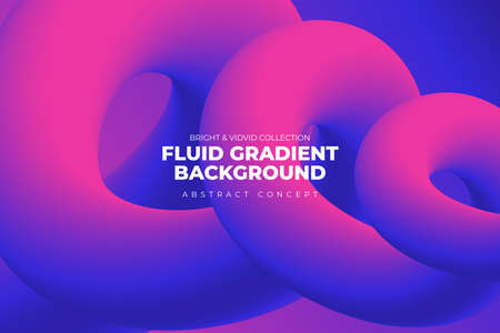 Landing abstratc background concept fluid dynamic vivid bright gradient color. geometric graphic icon element decoration design template. Vector illustrate. Ilustrace