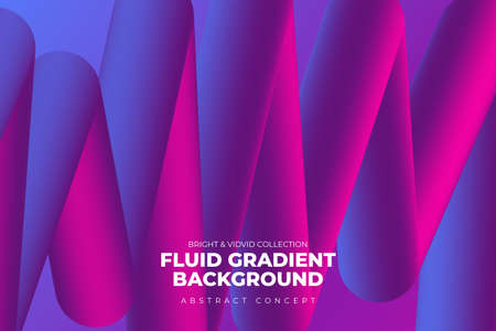 Landing abstratc background concept fluid dynamic vivid bright gradient color. geometric graphic icon element decoration design template. Vector illustrate. Иллюстрация