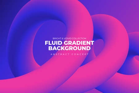 Landing abstratc background concept fluid dynamic vivid bright gradient color. geometric graphic icon element decoration design template. Vector illustrate. Stock Illustratie