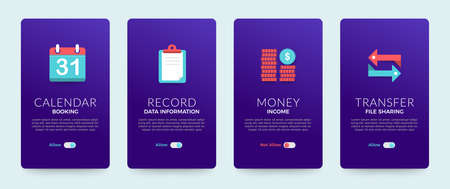 Set of banner design template. card design. business solution icons set and layout. Vector illustrate. Stock Vector - 136685553