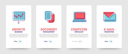 Set of banner design template. card design. business solution icons set and layout. Vector illustrate. Stock Vector - 136685584