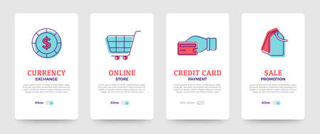 Set of banner design template. card design. business solution icons set and layout. Vector illustrate. Illustration