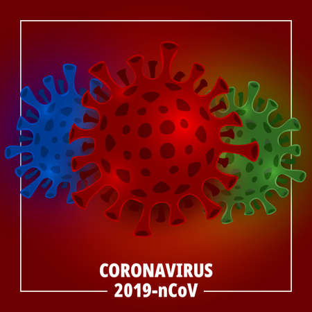 Illustrations concept coronavirus. Vector illustrate.