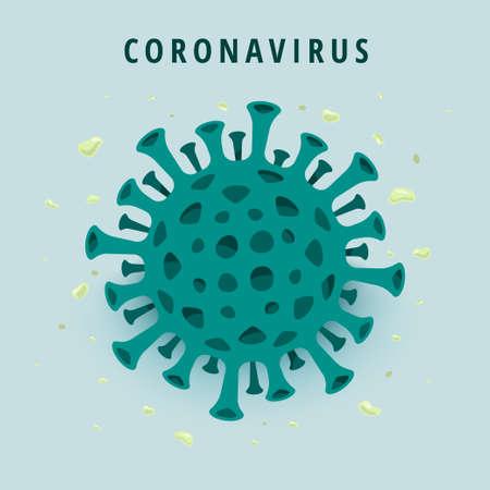 Illustrations concept coronavirus. Illustration vectorielle.