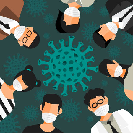 Ilustracje koncepcja koronawirusa. Wektor ilustrują.