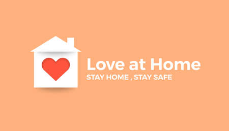 Stay at home save lives. Illustrations concept family at home. Vector illustrate. Standard-Bild - 147144719
