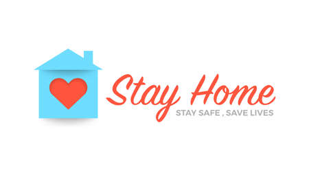 Stay at home save lives. Illustrations concept family at home. Vector illustrate.