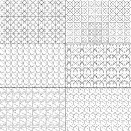 Vector set of minimal pattern. Geometric Line and shape design. Vector Illustrate.