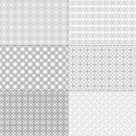 Vector set of minimal pattern. Geometric Line and shape design. Vector Illustrate. Standard-Bild - 152253667